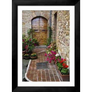 \u0027Doorway with Flowers Pienza Tuscany Italy\u0027 Framed Photographic Print  sc 1 st  Wayfair & Doorway Art   Wayfair