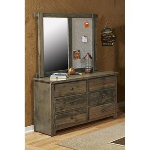 Look for Larkson 6 Drawer Double Dresser with Mirror by Harriet Bee Reviews (2019) & Buyer's Guide