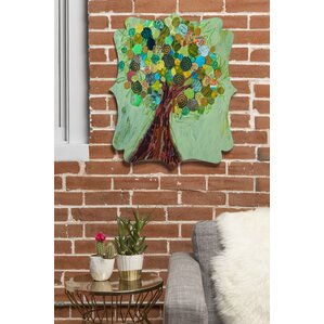 elizabeth st hilaire nelson spring tree wall clock