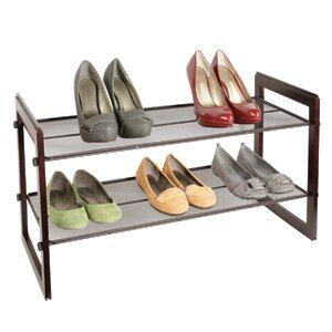 Inexpensive Shoe Storage 2 Shelf Stacker By Richards Homewares