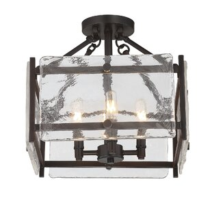 Brayden Studio Dorota 4-Light Semi Flush Mount