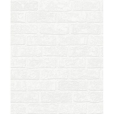 "Urbanbrick Paintable 33' x 20.5"" Wallpaper Roll Graham & Brown"