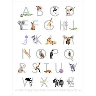 'Animal Kingdom ABC's Gray Canvas Art