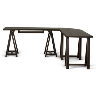 Simpli Home Sawhorse L-Shape Computer Desk