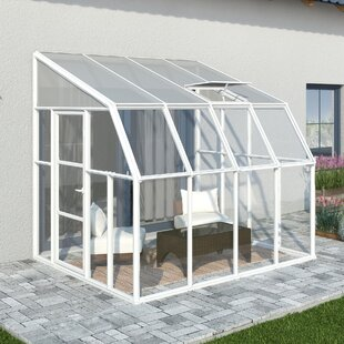 Rion Greenhouses Vinyl Wall Mounted Patio Sunroom 2