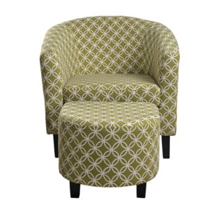 Paisley Barrel Chair and Ottoman by Nathaniel Home