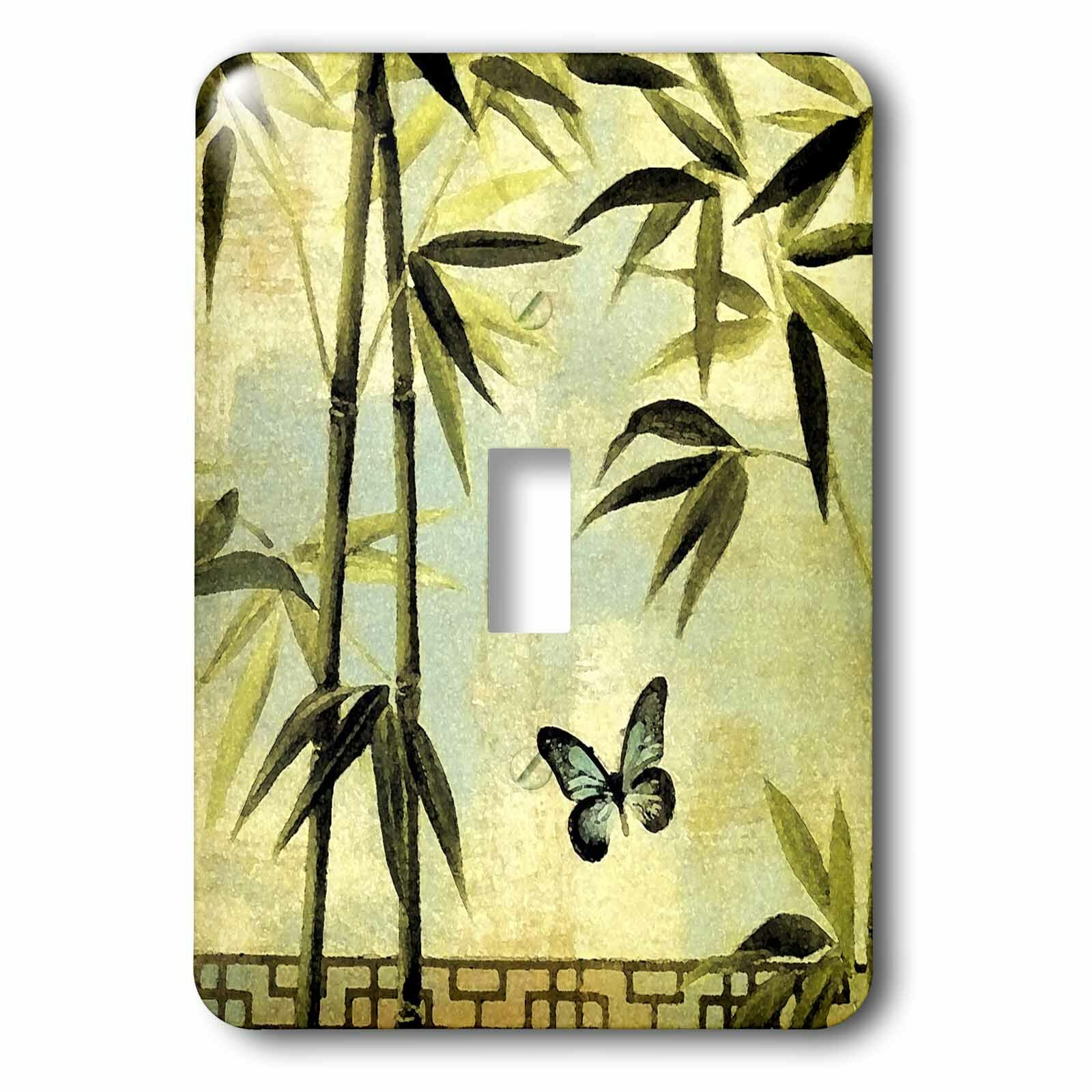 3drose Bamboo And Butterfly 1 Gang Toggle Light Switch Wall Plate Wayfair