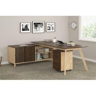 Ivy Bronx Barbosa Modern Executive 2 Piece L-Shape Desk Office Suite