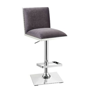 Abbigail Adjustable Height Swivel Bar Stool by Orren Ellis