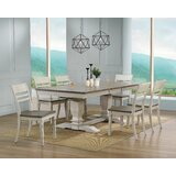 Pardo 7 - Piece Extendable Rubber Solid Wood Dining Set by Rosalind Wheeler