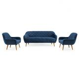 Wetherby Diamond 3 Piece Living Room Set by Everly Quinn