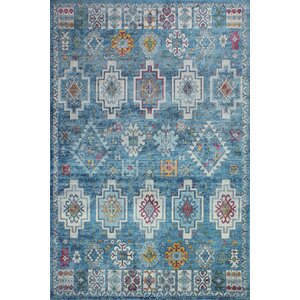 Fidela Blue Sheen Area Rug