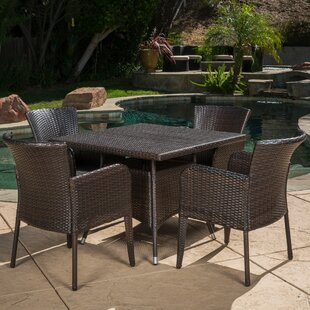 Jad 5 Piece Wicker Dining Set