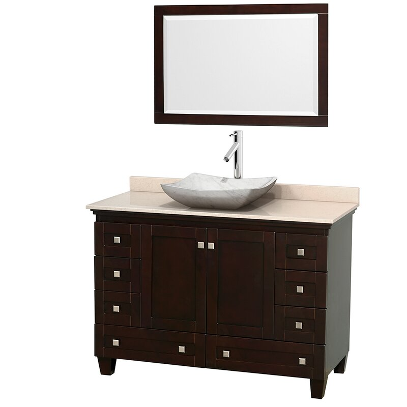 "Bathroom Vanity Base wyndham collection acclaim 48"" single bathroom vanity base"