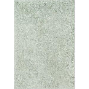 Cozy Shag Hand-Tufted Mist Area Rug