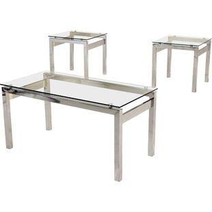 genova 3 piece coffee table set by wrought studio buy sale