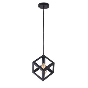 Poulin 1-Light Square Pendant by Williston Forge