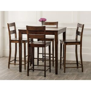 Panasonic Rustic 5 Piece Pub Table Set by Bloomsbury Market