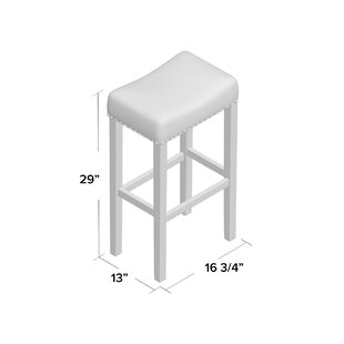 Firth Kitchen Pub-Height Bar Stool by Breakwater Bay