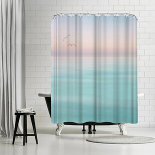 Inexpensive Lebens Art Meer Shower Curtain ByEast Urban Home