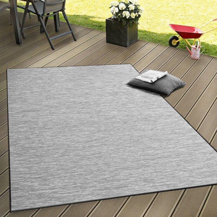 Alvin Flat Woven Grey Rug