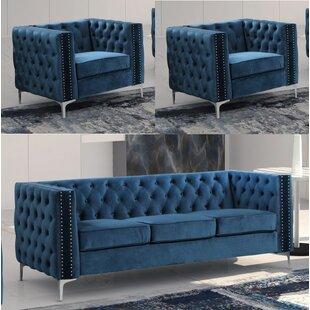 Odum 3 Piece Standard Living Room Set by Mercer41