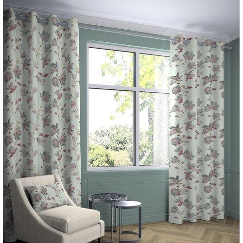 Pulaski Magnolia Tailored Eyelet Curtains Fleur De Lis Livin