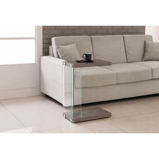 Best Deals Proothi Wood and Glass Snack End Table By Orren Ellis