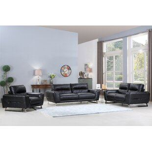 Compare Hawkesbury Common 3 Piece Leather Living Room Set by Orren Ellis Reviews (2019) & Buyer's Guide
