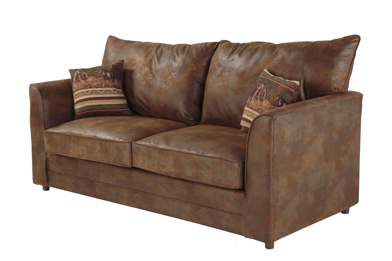 Loon Peak Aticus Microsuede Sofa Bed 77 Round Arms
