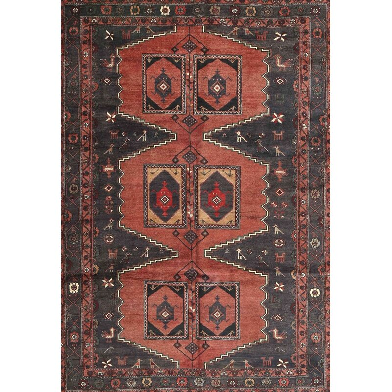 Bonparker Traditional Blue Red Area Rug
