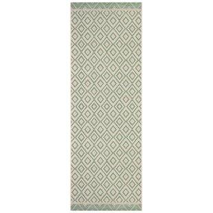 Dalaigh Flatweave Green/Cream Rug By Bloomsbury Market