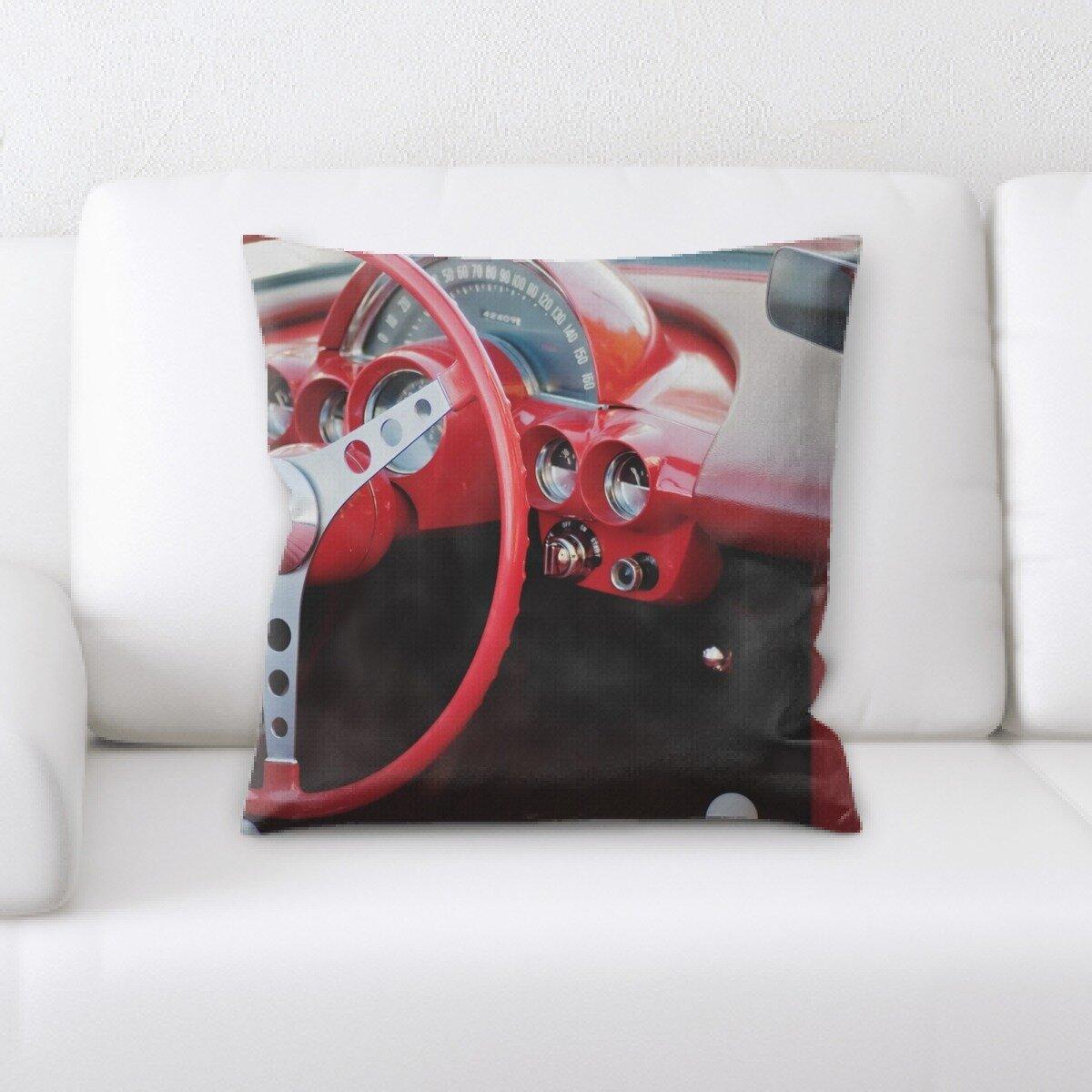 Rug Tycoon Steering Wheel Throw Pillow