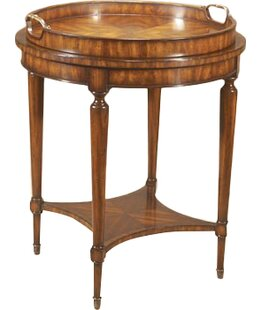 Aged Regency End Table with Tray