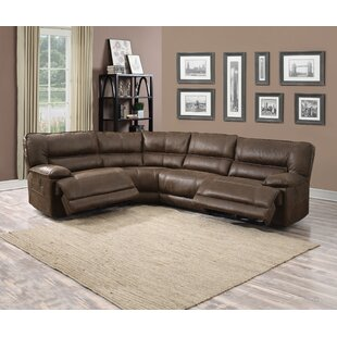Faustino Leather Reclining Sectional By Red Barrel Studio