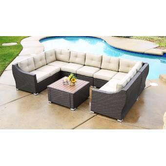 Bayou Breeze Gino 4 Piece Sofa Seating Group With Cushions Wayfair