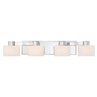 Polished chrome vanity light wayfair myrtlewood polished chrome 4 light vanity light aloadofball Choice Image