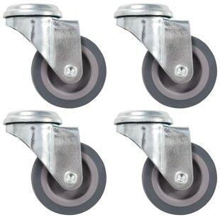 Janda 4 Piece Bolt Hole Swivel Castor Set (Set Of 4) By Symple Stuff