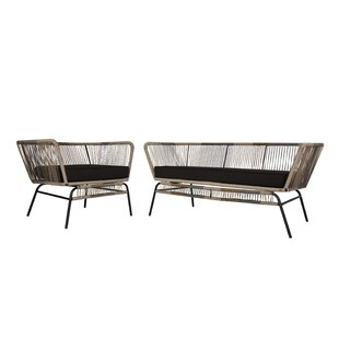 Close 2 Piece Standard Seating Group with Cushions