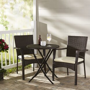 Grampian 3 Piece Bistro Set With Cushions