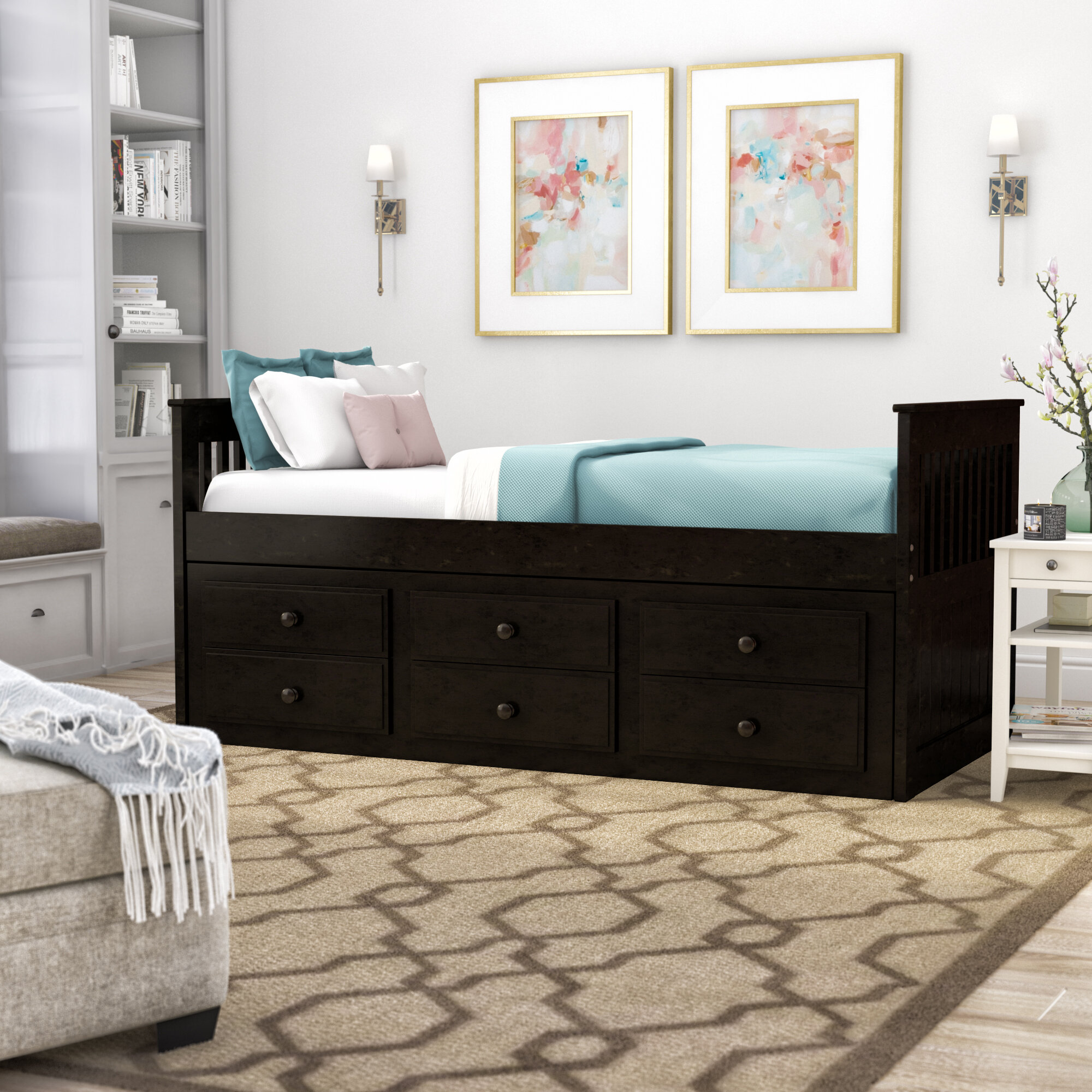 Darby Home Co Smotherman Twin Daybed With Trundle Reviews Wayfair