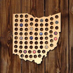 Ohio Beer Cap Map Wall Décor