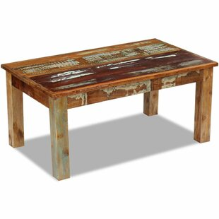 Review Chiron Solid Reclaimed Wood Coffee Table
