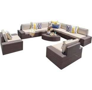 Mountview 10 Piece Sectional Set with Cushions by Wade Logan