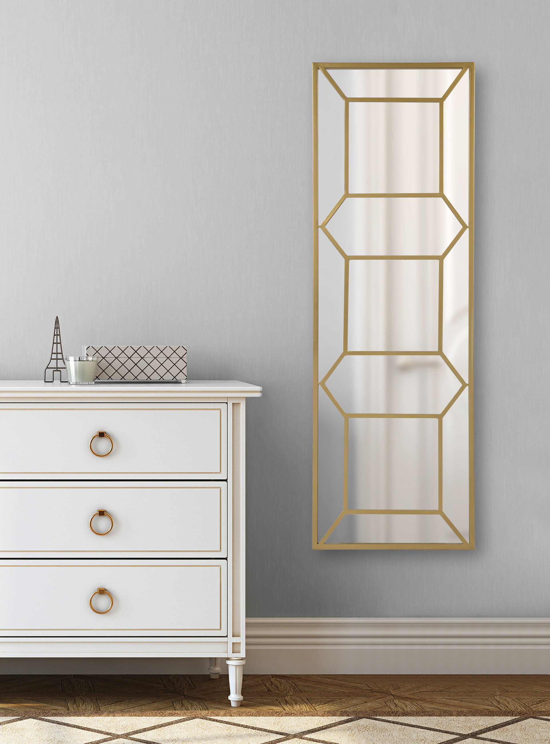 Mercer41 Eben Trellis Panel Beveled Wall Mirror Reviews Wayfair