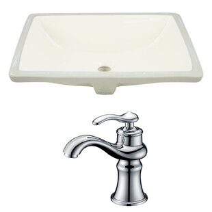 Shop For Ceramic Rectangular Undermount Bathroom Sink with Faucet and Overflow By American Imaginations
