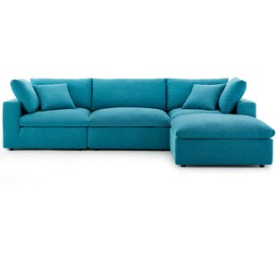 Coats Overstuffed Modular Sectional with Ottoman