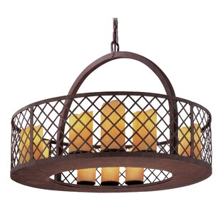 Loon Peak Rucker 12-Light Drum Chandelier