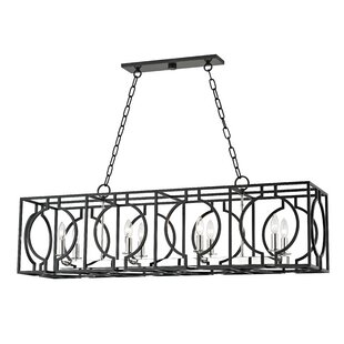 Everly Quinn Lehner 8-Light Kitchen Island Pendant