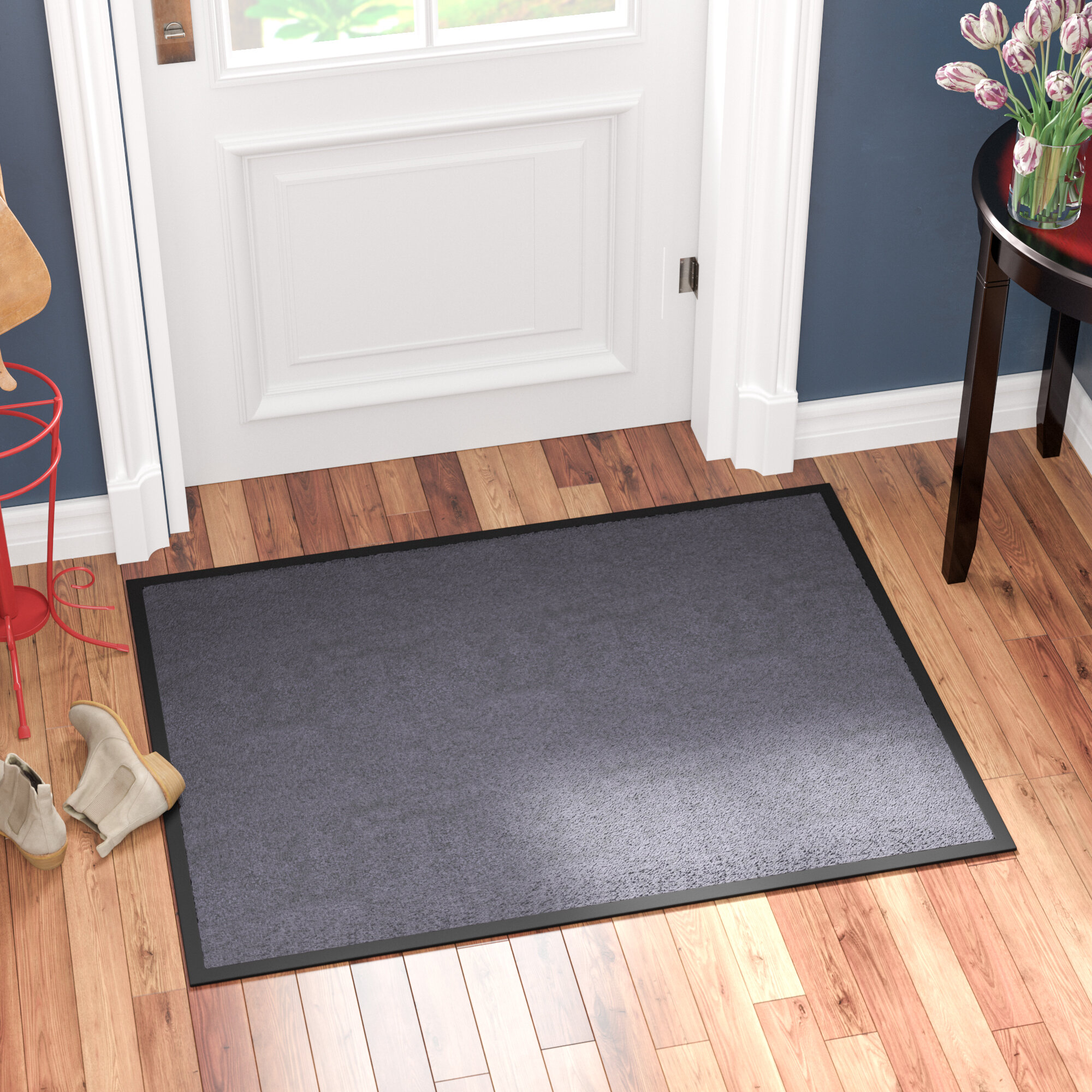 Gentil Red Barrel Studio Hastings Rectangular Indoor Plush Entrance Door Mat U0026  Reviews | Wayfair